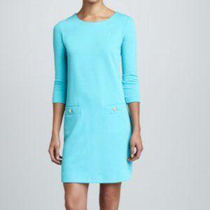 Lilly Pulitzer Charlene Shift Dress Ponte Blue